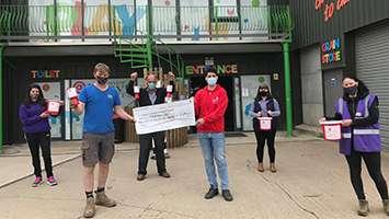 Farm's drive-thru burger bar raises thousands for Birmingham Children's Hospital Charity